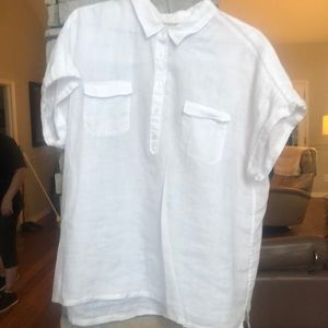 Short sleeved white linen Tommy Bahama